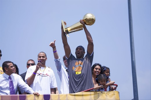 Stock Photo: 1599-13117 Victory parade for 2009 NBA Champion Los Angeles Lakers, June 16, 2009