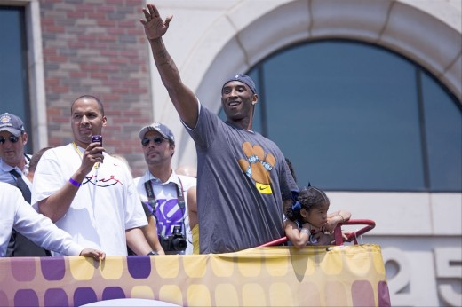 Stock Photo: 1599-13121 Victory parade for 2009 NBA Champion Los Angeles Lakers, June 16, 2009