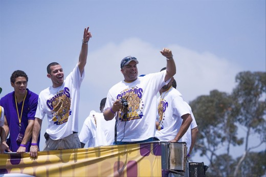 Stock Photo: 1599-13123 Victory parade for 2009 NBA Champion Los Angeles Lakers, June 16, 2009