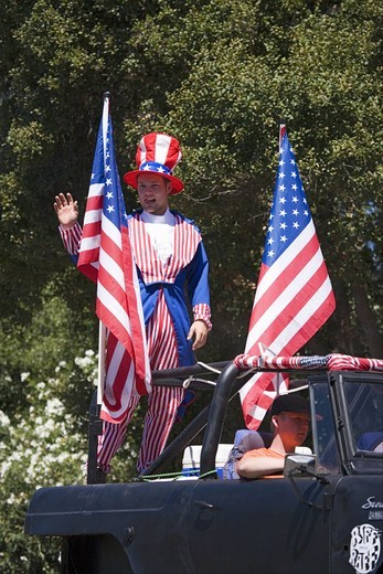 Annual 4th of July Parade in Ojai, California : Stock Photo