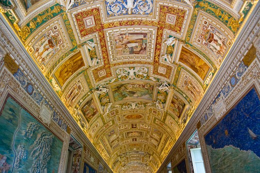 The Vatican Museums, Musei Vaticani, are the public art and sculpture museums in the Vatican City, which display works from the extensive collection of the Roman Catholic Church. Pope Julius II founded the museums in the 16th century, Rome, Italy, Europe : Stock Photo