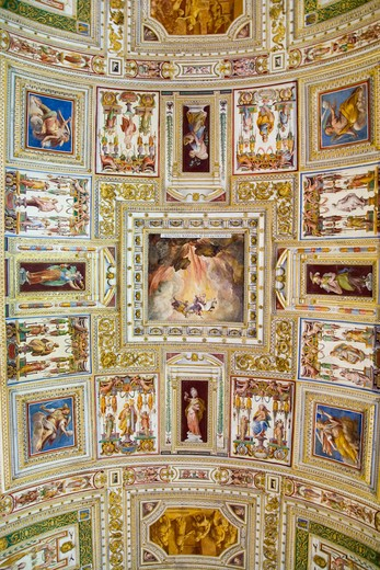 Stock Photo: 1599-13898 The Vatican Museums, Musei Vaticani, are the public art and sculpture museums in the Vatican City, which display works from the extensive collection of the Roman Catholic Church. Pope Julius II founded the museums in the 16th century, Rome, Italy, Europe