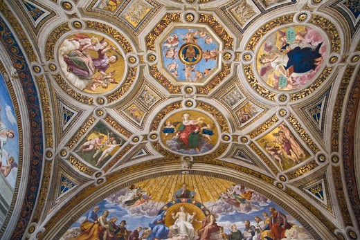 Stock Photo: 1599-13899 The Vatican Museums, Musei Vaticani, are the public art and sculpture museums in the Vatican City, which display works from the extensive collection of the Roman Catholic Church. Pope Julius II founded the museums in the 16th century, Rome, Italy, Europe