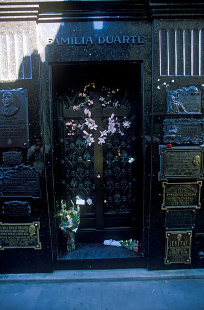 Mausoleum of Familia Duarte, burial site of Eva Peron in Buenos Aires, Argentina : Stock Photo