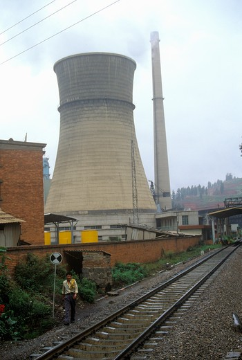 Nuclear power plant, Kunming, Yunnan Province, People's Republic of China : Stock Photo