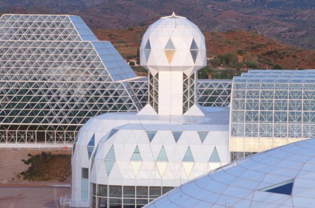 Biodome 2 structure, Tucson, Arizona : Stock Photo