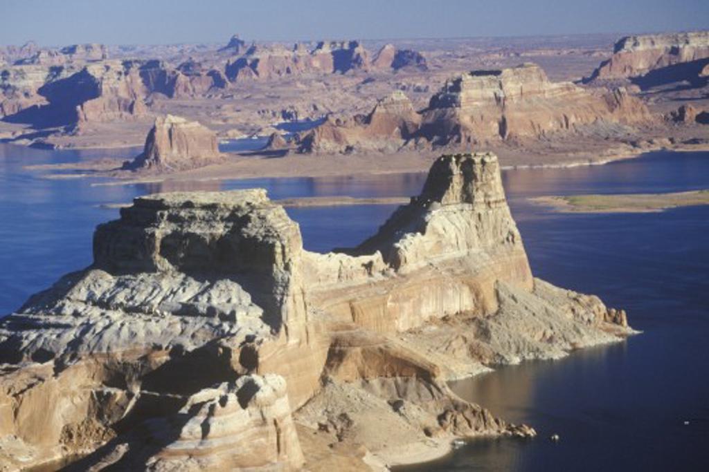 Rock Formations, Lake Powell, Page, Arizona : Stock Photo