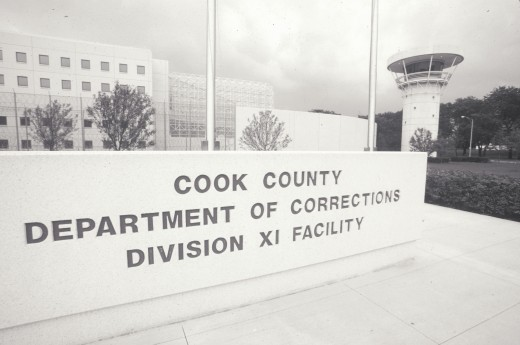 Stock Photo: 1599-3044 Entrance to Cook County Department of Corrections, Chicago, Illinois