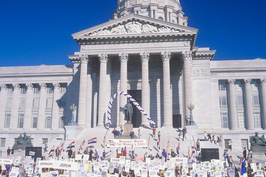 Missouri March for Women's lives : Stock Photo