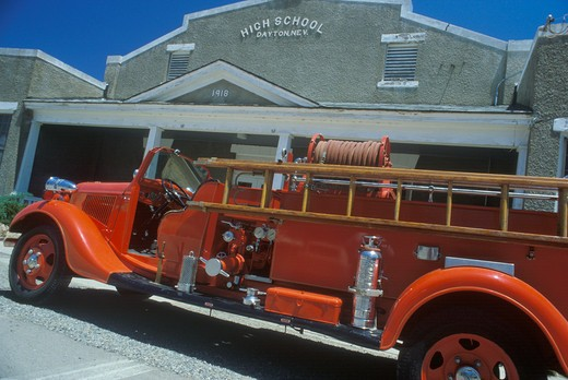 Stock Photo: 1599-3353 Antique fire engine, Dayton, Nevada