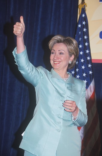 Hillary Rodham Clinton, speaks at the National Caucus of Latino Delegates, at the 2000 Democratic Convention at the Staples Center, Los Angeles, CA  : Stock Photo