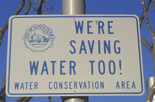 A sign for water conservation : Stock Photo