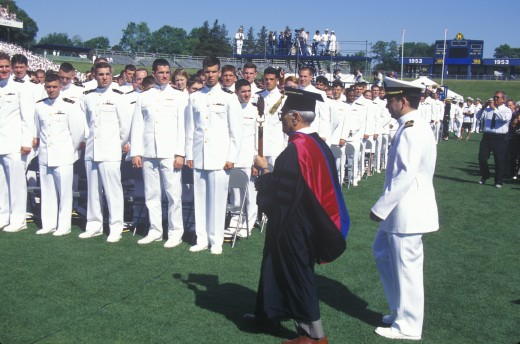 United States Naval Academy Graduation Ceremony, May 26, 1999, Annapolis, Maryland : Stock Photo