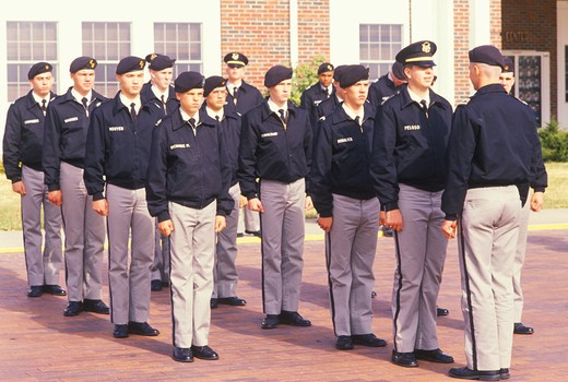 Stock Photo: 1599-5249 Young Cadets, St. John's Military School, Salina, Kansas