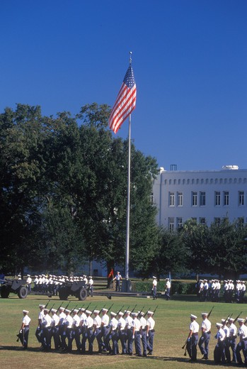 Review of Cadets, The Citadel Military College, Charleston, South Carolina : Stock Photo