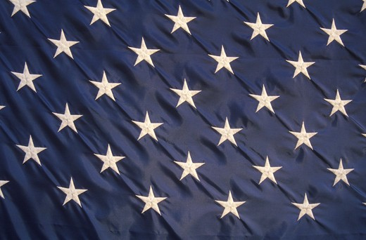 Stock Photo: 1599-5433 Close-up of the Stars on an American Flag, United States
