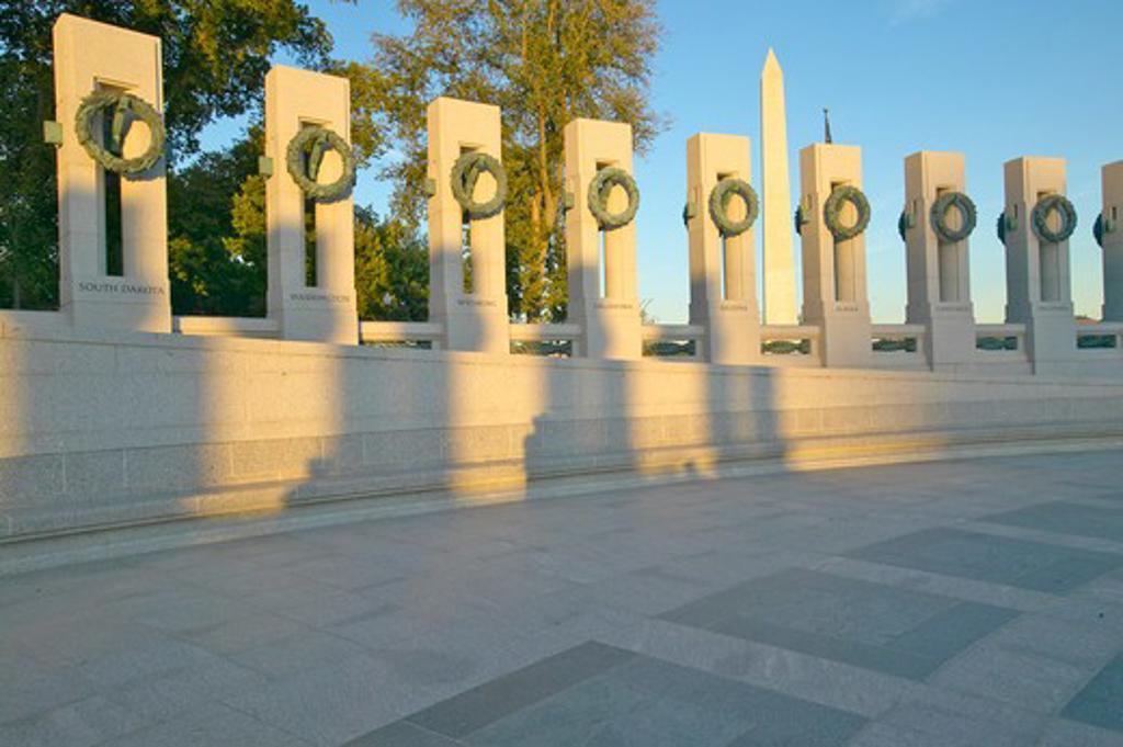 Wreaths at the U.S. World War II Memorial ,Washington D.C.  : Stock Photo