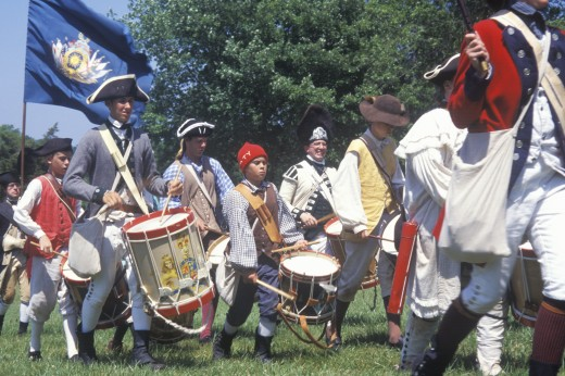 Revolutionary War Reenactment, Freehold, NJ, 218th Anniversary of Battle of Monmouth,1778 : Stock Photo