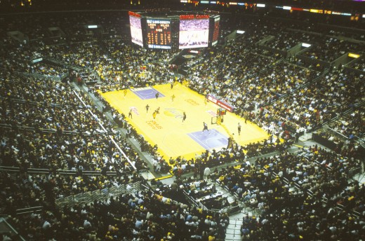 World Championship Los Angeles Lakers, NBA Basketball Game, Staples Center, Los Angeles, CA : Stock Photo
