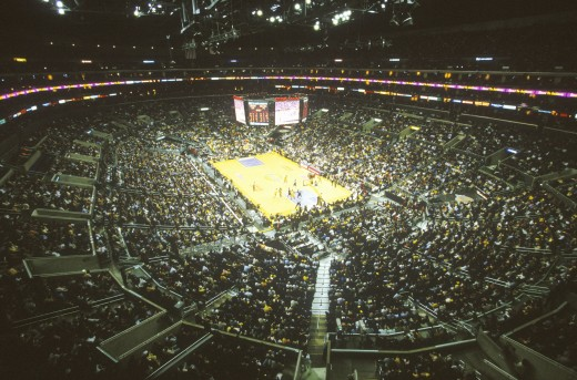 Stock Photo: 1599-6451 World Championship Los Angeles Lakers, NBA Basketball Game, Staples Center, Los Angeles, CA