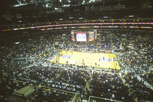 Stock Photo: 1599-6453 World Championship Los Angeles Lakers, NBA Basketball Game, Staples Center, Los Angeles, CA