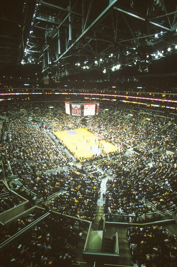Stock Photo: 1599-6454 World Championship Los Angeles Lakers, NBA Basketball Game, Staples Center, Los Angeles, CA