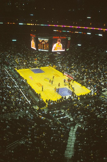 Stock Photo: 1599-6455 World Championship Los Angeles Lakers, NBA Basketball Game, Staples Center, Los Angeles, CA
