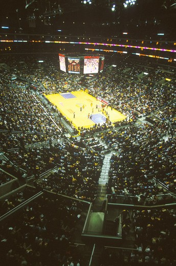 Stock Photo: 1599-6456 World Championship Los Angeles Lakers, NBA Basketball Game, Staples Center, Los Angeles, CA