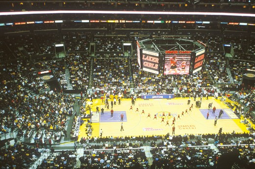 Stock Photo: 1599-6458 World Championship Los Angeles Lakers, NBA Basketball Game, Staples Center, Los Angeles, CA
