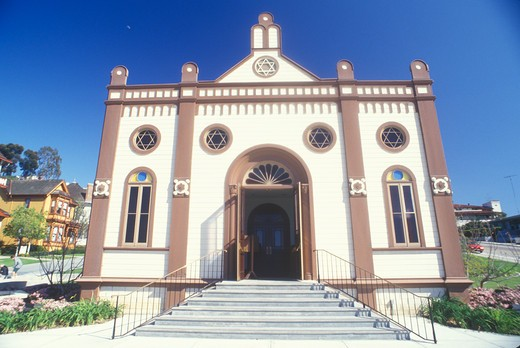 Temple Beth Israel Synagogue in Old Town San Diego California : Stock Photo