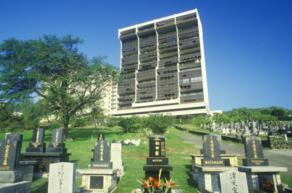 Buddhist grave in Honolulu Hawaii : Stock Photo