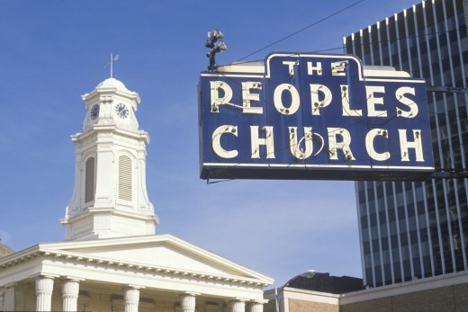 The People's Church in South Bend Indiana : Stock Photo
