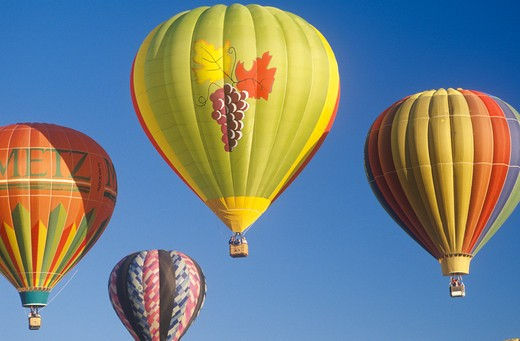 Balloons take to the air at the Albuquerque International Balloon Fiesta in New Mexico : Stock Photo