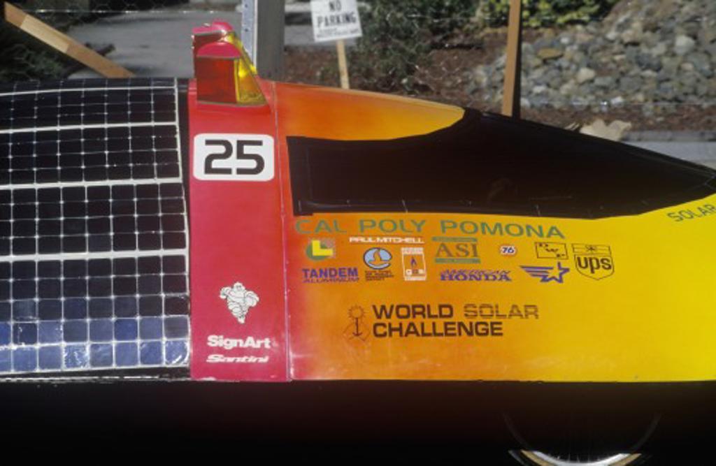 Stock Photo: 1599-8408 Solar Flair solar powered car, CA