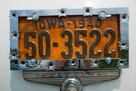 Stock Photo: 1599-9051 Vanity License Plate - Iowa