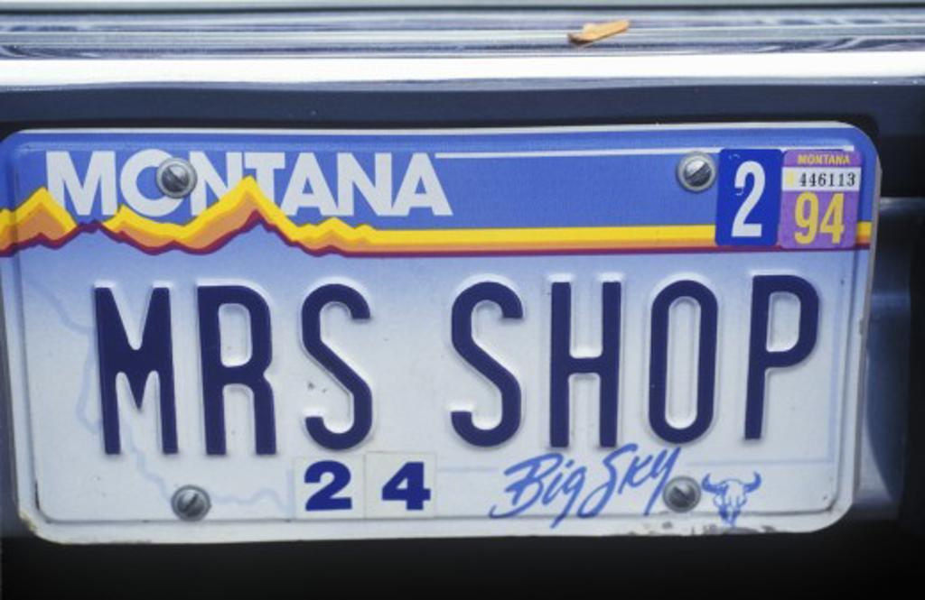 Vanity License Plate - Montana : Stock Photo