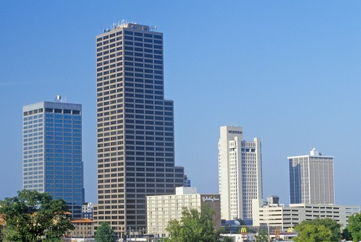 Stock Photo: 1599-9978 State capital and skyline in Little Rock, Arkansas
