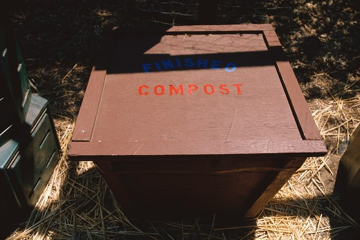 Top of compost bin : Stock Photo