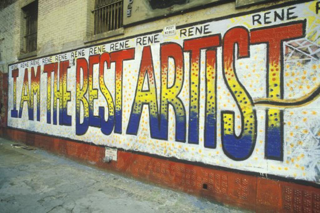 Stock Photo: 1599R-16954 Graffiti on a New York City wall