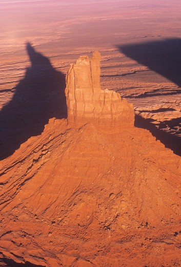 Aerial View of Monument Valley at Sunset, Arizona : Stock Photo