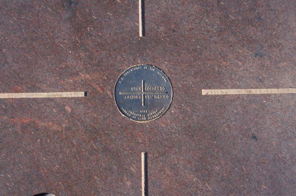 Four corners of Colorado, Utah, New Mexico and Arizona : Stock Photo