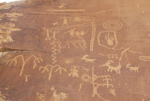 Petroglyphs from Atlati Rock, NV : Stock Photo