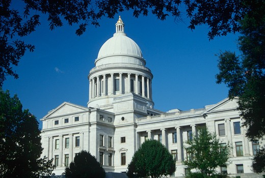 Stock Photo: 1599R-18633 State Capitol of Arkansas, Little Rock