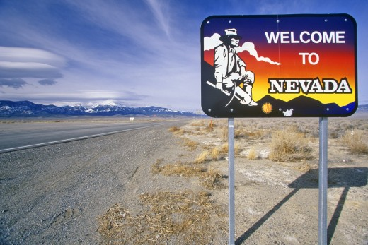 Welcome to Nevada Sign : Stock Photo