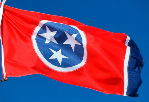 State Flag of Tennessee : Stock Photo