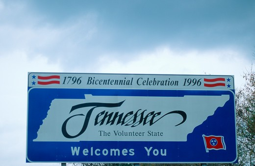 Welcome to Tennessee Sign : Stock Photo