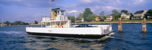 Oxford to Bellevue Ferry, continuous use from 1683 to 1836, Maryland : Stock Photo