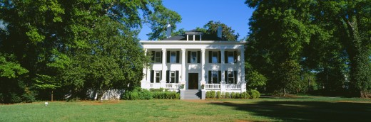 Stock Photo: 1599R-19614 Historic home in Madison, Georgia