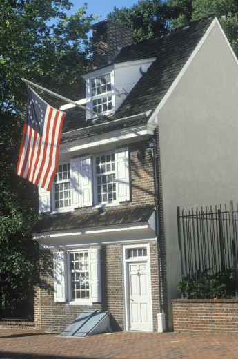 Betsy Ross House, Philadelphia, Pennsylvania : Stock Photo