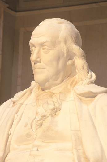 Stock Photo: 1599R-20634 Benjamin Franklin Memorial, Franklin Institute, Philadelphia, Pennsylvania